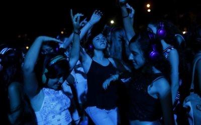 Nuit Blanche à Tel Aviv (Crédit : Miriam Alster/Flash90)