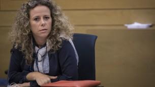 La députée de l'Union sioniste Ayelet Nahmias-Verbin. (Crédit : Hadas Parush/Flash90)