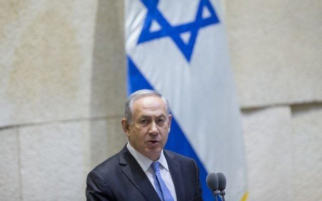 Le Premier ministre Benjamin Netanyahu à la Knesset, le 1er juin 2016. (Crédit : Yonatan Sindel/Flash90)