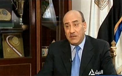 L'ancien juge et président de l'Autorité des comptes publics en Egypte, Hicham Geneina, lors d'une interview en 2014. (Crédits : capture d'écran YouTube / Nile News)