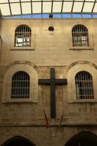 Eglise maronite de Jérusalem. (Crédits : Héloïse Fayet / Times of Israel)
