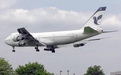 Un Boeing 747 de la compagnie Iran Air. (Crédits : Domaine public / Wiki Commons)