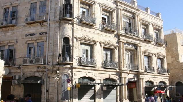 A la fin du 19e siècle, l'Hôtel Impérial était l'endroit le plus chic pour se loger en ville. (Crédits : Shmuel Bar-Am)