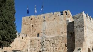 Les fondations de la citadelle de Jérusalem furent construites par les Macchabées. (Crédits : Shmuel Bar-Am)