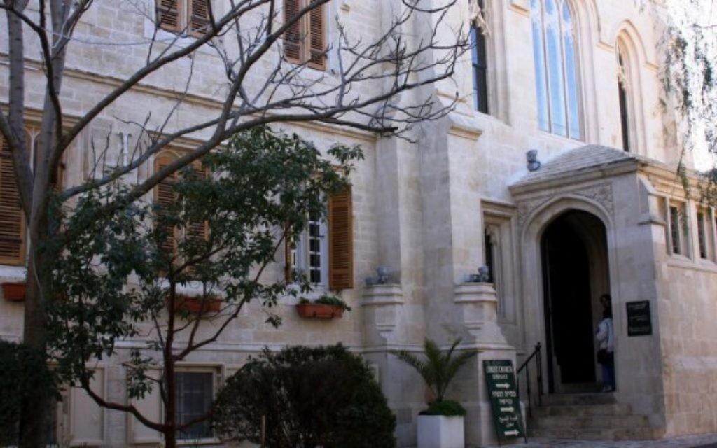 L'église du Christ abrite également le Centre d'héritage chrétien, un réservoir d'eau vieux de 2 000 ans et une maison d'hôtes. (Crédits : Shmuel Bar-Am)