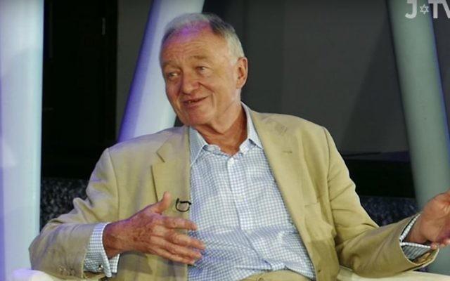 Lors de son interview sur J-TV diffusée le 21 juin 2016, l'ancien maire de Londres Ken Livingstone a dit qu'il inviterait à dîner celui qui réussirait à prouver qu'il avait tort sur le 'fait' qu'Hitler avait soutenu le sionisme. (Crédit : capture d'écran YouTube )