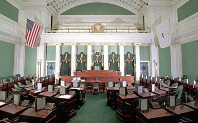 Le Sénat de l'état du Rhode Island, le 11 décembre 2009. (Crédit : Wikimedia Commons)