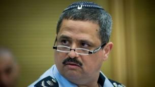 Le chef de la police Roni Alsheich lors d'une réunion à la Knesset, le 29 mars 2016. (Crédits : Yonatan Sindel / Flash 90)