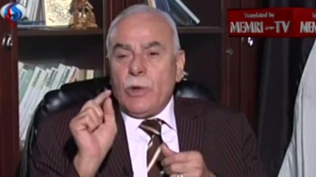 Sultan Abu al-Einein, conseiller du président de l'Autorité palestinienne, Mahmoud Abbas, et membre du Comité central du Fatah. (Crédit : capture d'écran MEMRI)