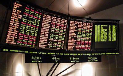 Tableau de valeurs boursières (image d'illustration). (Crédits : Wki Commons)