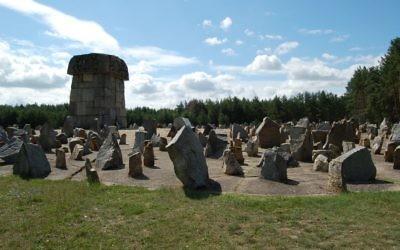 Le mémorial de l'Holocauste construit à Treblinka, ancien camp de la mort nazi dans l'est de la Pologne (Crédit : Caroline Sturdy Colls)