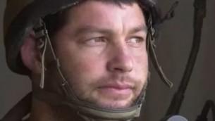 Le commandant de brigade Givati Ofer Winter (Crédit : capture d'écran YouTube)