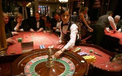 Photo d'illustration d'un casino (Crédit : Yossi Zamir/Flash90)
