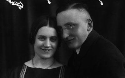 Trude, la grande-tante de Jonathan Wittenberg, et son mari Alex. La correspondance de la famille a été récemment découverte dans l'appartement d'une tante décédée, révélant comment était la vie avant que Trude et Alex ne soient assassinés par les nazis. (Crédits : autorisation)