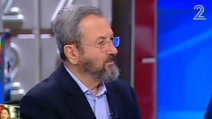 L'ancien Premier ministre Ehud Barak sur la Deuxième chaîne, le 17 juin 2016. (Crédit : capture d'écran Deuxième chaîne)