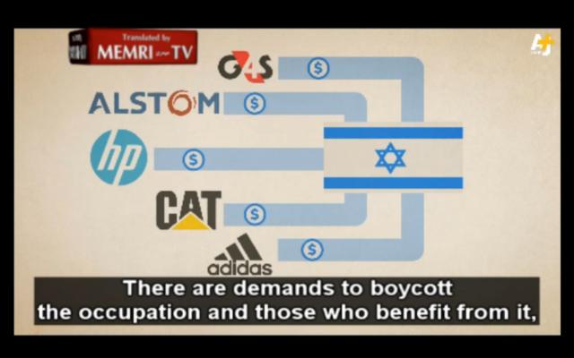"""""""Qu'est-ce que le BDS"""" (Capture d'écran/MEMRI)"""
