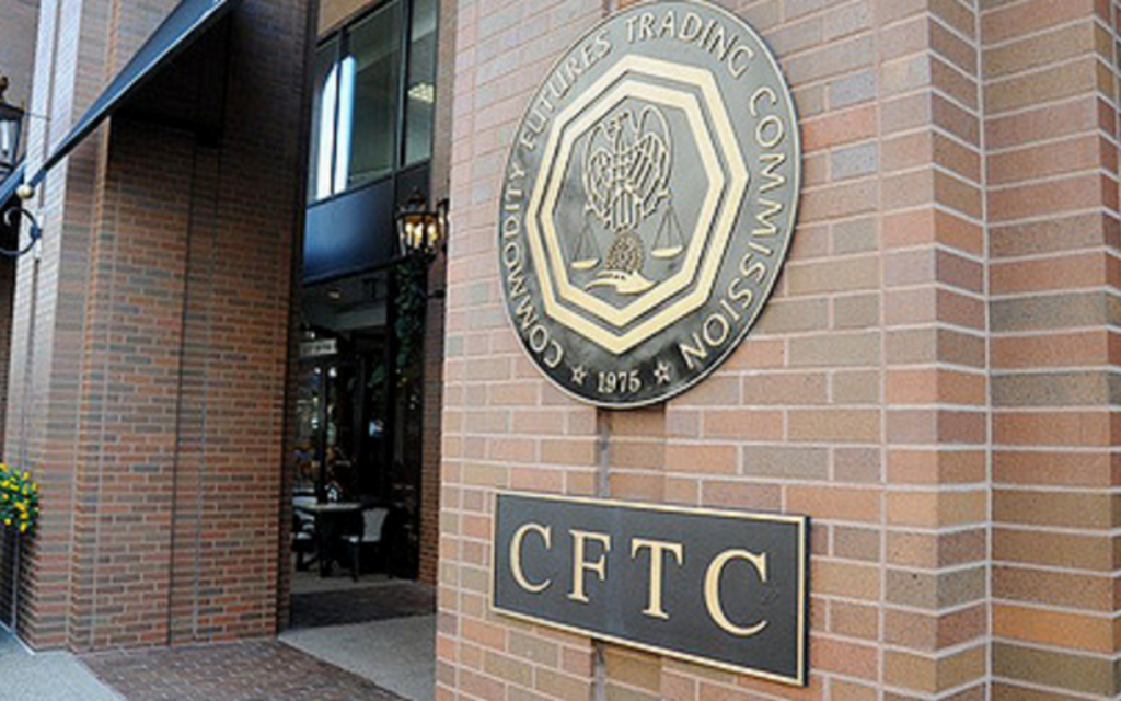 Entrée de la FCTC, la Commission de régulation des marchés à terme, à Washington D.C. Illustration. (Crédit : autorisation)
