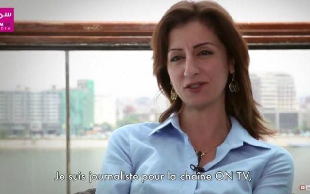 La journaliste égyptienne Liliane Daoud. (Crédit : capture d'écran YouTube)