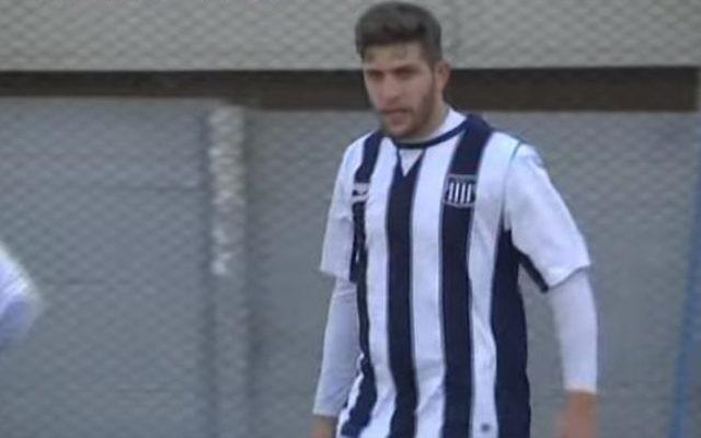 Le joueur de football israélo-argentin Eial Strahman. (Crédit : capture d'écran YouTube/tv10cordoba)