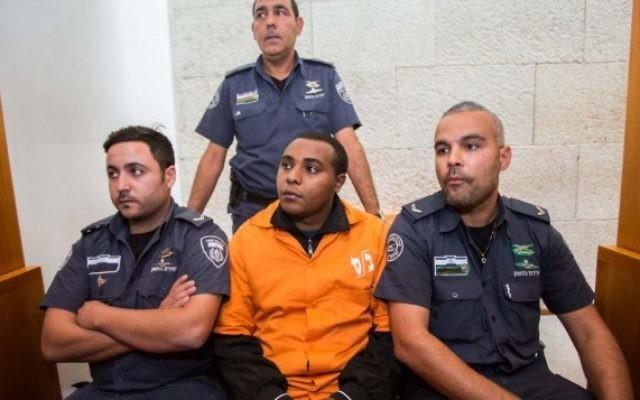Yonatan Hilo fait appel de sa peine de 20 ans pour assassinat à la Cour suprême à Jérusalem le 1er décembre 2014. (Crédit photo: Yonatan Sindel / Flash90)