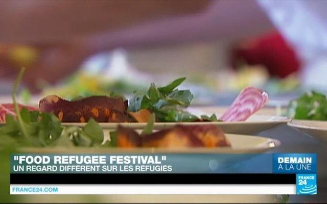 Capture d'écran d'une vidéo YouTube / France 24 sur le début du Refugee Food Festival.