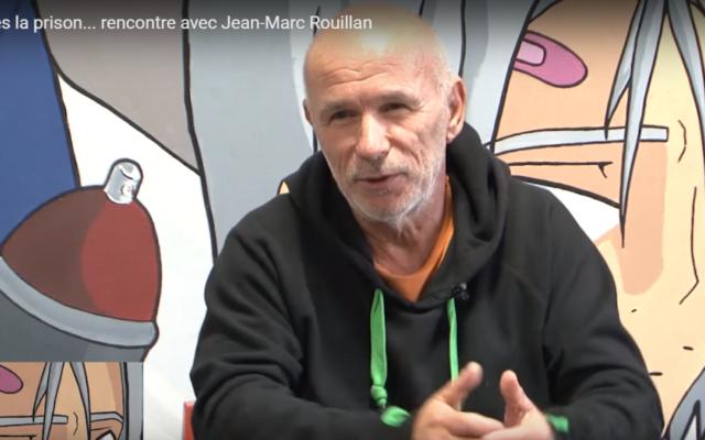 Jean-Marc Rouillan, l'ancien chef de file du groupe armé français d'extrême gauche Action directe (Crédit : capture d'écran YouTube)