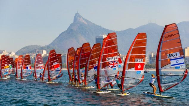 Premier événement d'essai pour Rio 2016, un regate internationale de voile qui a réuni 326 athlètes venus de 35 pays, le 3 août 2014 (Crédit : Alex Ferro/via JTA)