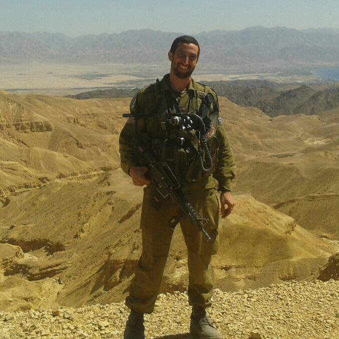 Shalev Paller à la frontière israélo-égyptienne pendant  son service militaire (Autorisation: Shalev Paller)