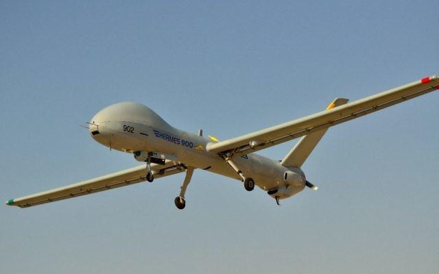 Un drone Hermes 900 du constructeur israélien Elbit Systems. (Crédits : autorisation d'Elbit Systems)