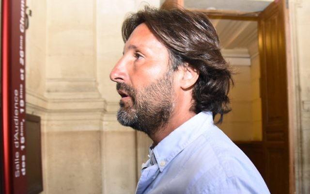 Arnaud Mimran au tribunal de Paris, le 7 juillet 2016 (Crédit : Bertrand Guay/AFP)
