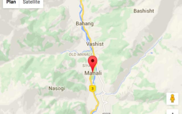 Situation géographique de Manali en Inde