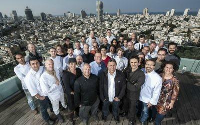 Certains des chefs présents dans la dernier numéro de Condé Nast Traveler, qui consacre Tel Aviv 5ème ville gastronomique au monde. (Crédits : autorisation Iliya Melinkov)