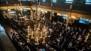 Une commémoration pour les hommes et les femmes de la communauté juive britannique qui ont servi dans la Première Guerre mondiale, organisée par We Were There Too, à la synagogue Bevis Marks  (Autorisation: Blake Ezra)