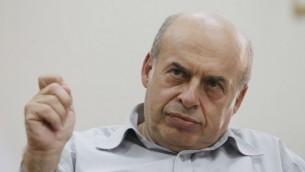Le président de l'Agence juive, Natan Sharansky (Crédit : Miriam Alster/Flash90)
