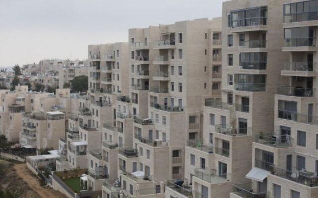 Des habitations dans le quartier de Gilo à Jérusalem-est, le 17 décembre 2015 (Crédit : Lior Mizrahi/Flash90)