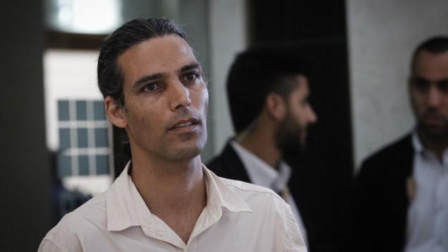 Yigal Ratzon, le fils du gourou et agresseur sexuel condamné Goel Ratzon, à la Cour suprême de Jérusalem, le 18 juillet 2016. (Crédit : Miriam Alster/Flash90)