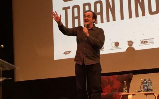 Quentin Tarantino pendant le Festival du film de Jérusalem, le 8 juillet 2016. (Crédit : David Horovitz/Times of Israel)
