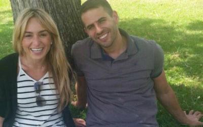 La nouvelle immigrante américaine Nicole et son fiancé israélien Zohar. Fiancés en avril 2016, leur mariage a été mis en attente jusqu'à ce que le rabbinat israélien accepte la conversion orthodoxe de Nicole effectuée aux Etats-Unis. (Autorisation)