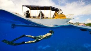 Illustration d'un homme faisant de la plongée sous-marine (Crédit : autorisation)