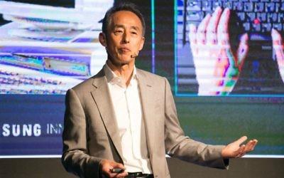 Young Sohn s'exprime au Sommet de l'innovation Samsung à Tel Aviv (Crédit : autorisation)