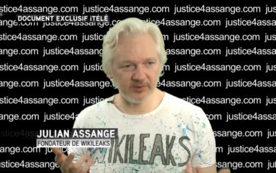Julian Assange (Crédit : capture d'écran YouTube)