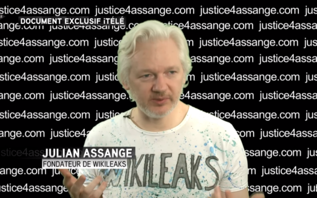 Julian Assange (Crédit : capture d'écran YouTube)