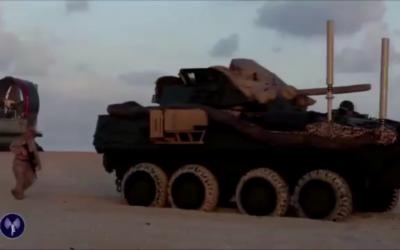 L'exercice 'Noble Shirley' dans le désert du Néguev d'Israël vise à préparer les forces américaines à la lutte contre l'État islamique, juillet 2016 (Crédit : capture d'écran YouTube)