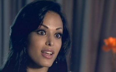 Layla Sin, star du porno née en Israël, sur la Dixième chaîne, le 8 juillet 2016. (Crédit : capture d'écran Dixième chaîne)