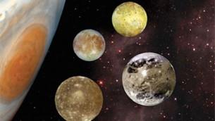 Jupiter et les lunes galiléennes. (Crédit : NASA)