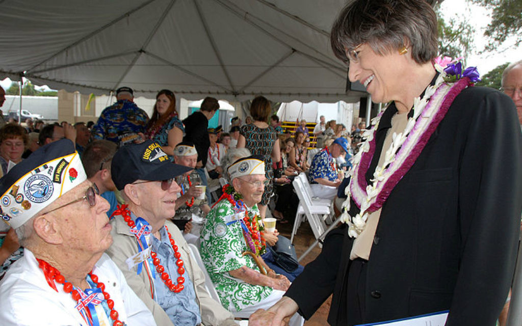 Linda Lingle a été gouverneure de Hawaii pendant deux mandats entre 2002 et 2010, et est le politicien juif le plus connu d'Hawaii. (Wikimedia Commons)