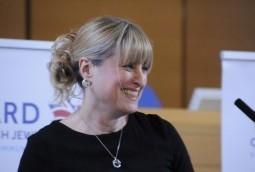 La vice-présidente du Conseil des représentants des Juifs britanniques, Marie van der Zyl (Crédit : Board of Deputies of British Jews)
