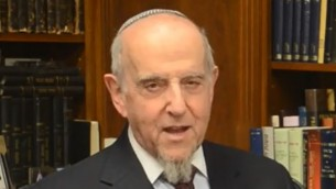Le rabbin Haskel Lookstein (Crédit : capture d'écran YouTube/CelebrateIsrael)