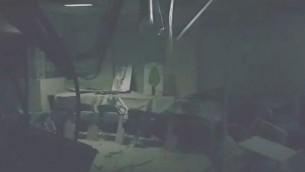 Le jardin d'enfants de Sdérot touché par une frappe de roquette tirée depuis la bande de Gaza, le 1er juilet 2016. (Crédit : capture d'écran YouTube)