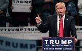 Donald Trump, candidat républicain à la présidentielle, pendant un meeting de campagne à Concord, en Caroline du Nord, le 7 mars 2016. (Crédit : AFP/Sean Rayford/Getty Images)